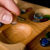 Mancala Kalah Sowing Traditional Board